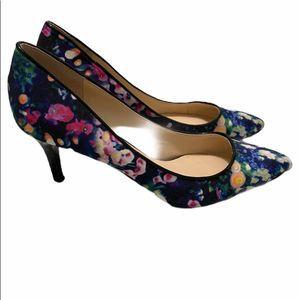 NINE WEST Elise floral print pumps